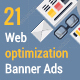 Flat Web Optimizing Banner Ads