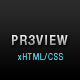 Preview - Fancy Dark xHTML/CSS theme