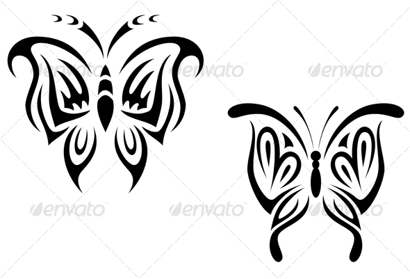 Black And White Butterfly Tattoos. Butterfly tattoo