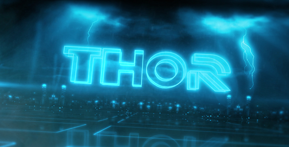 After Effects Project - VideoHive Thor text Reveal 180884