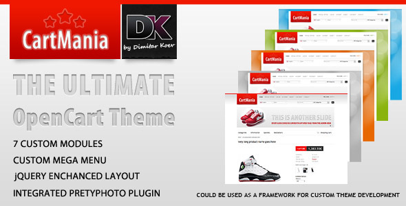 CartMania - The Ultimate OpenCart 1.4.9.3 template - ThemeForest Item for Sale