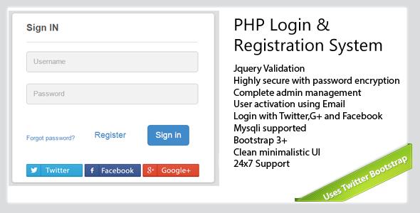 Secure-PHP-Login & Registration System