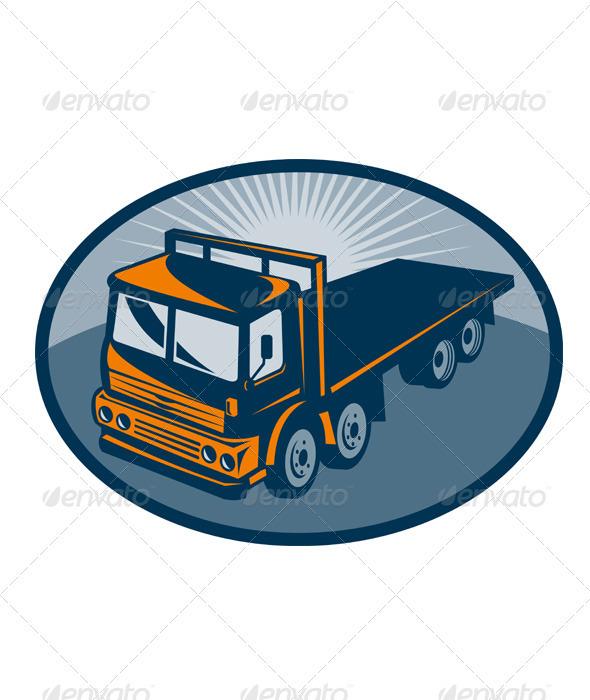 Fllatbed Truck Retro Style