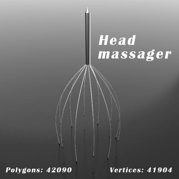 Head massager - 3DOcean Item for Sale