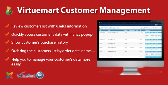 Virtuemart Customer Management
