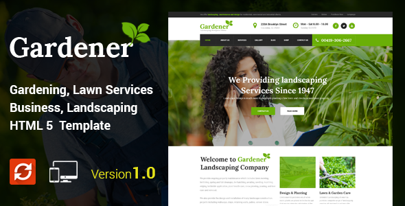Gardener - Gardening and Landscaping HTML Template