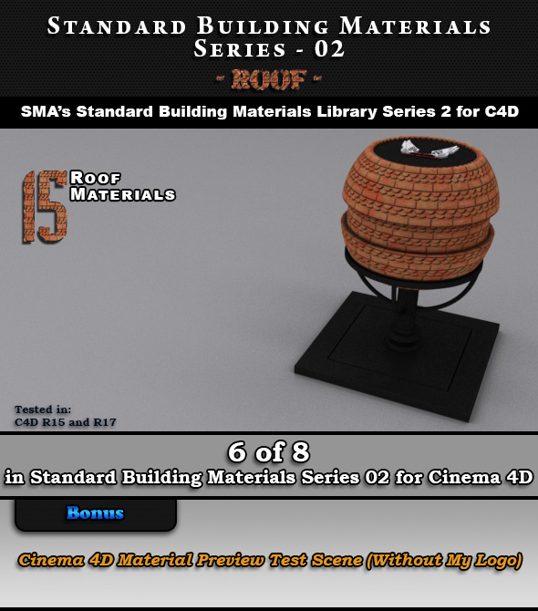 Standard Building Materials S02 - Roof for Cinema 4D - 3DOcean Item for Sale