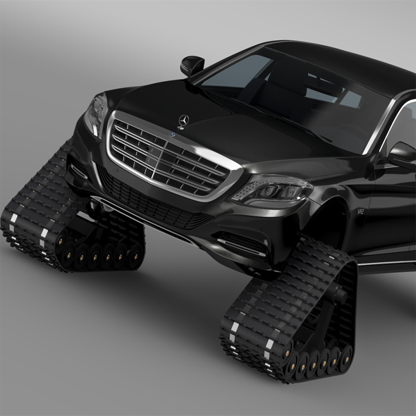 Mercedes Maybach Pullman Crawler 2016 - 3DOcean Item for Sale
