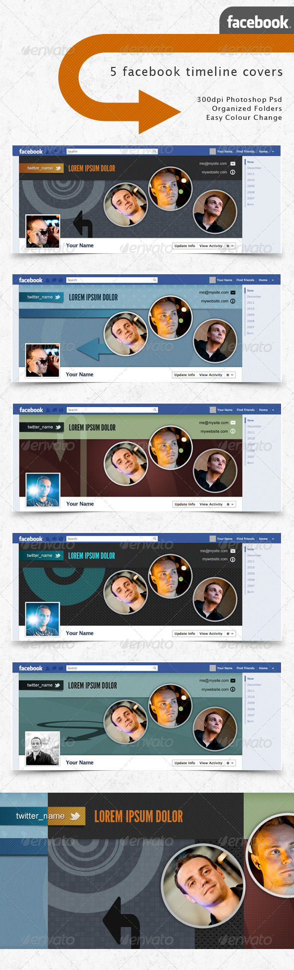 GraphicRiver Facebook Timeline Covers Photo Circles 1532733