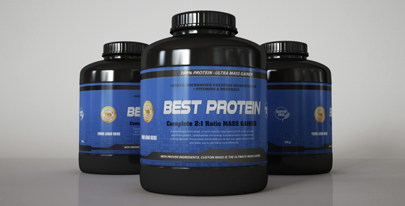 Supplement Bottle Set - 3DOcean Item for Sale