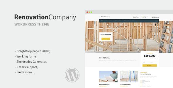Renovation Company - Construction and Building WordPress Theme