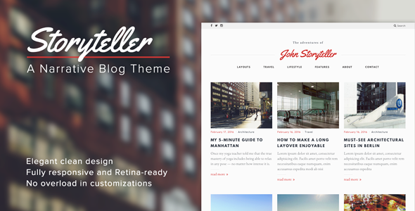 Storyteller -- A Narrative WordPress Blog Theme