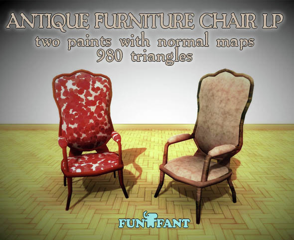 Antique Furniture - Chair LP - 3DOcean Item for Sale