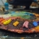 Artists Oil Paints Multicolored  Abstract