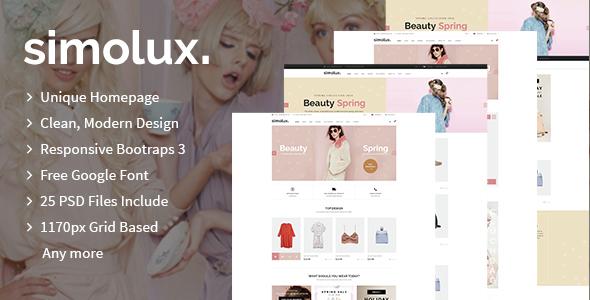 Simolux - Multipurpose eCommerce PSD Template