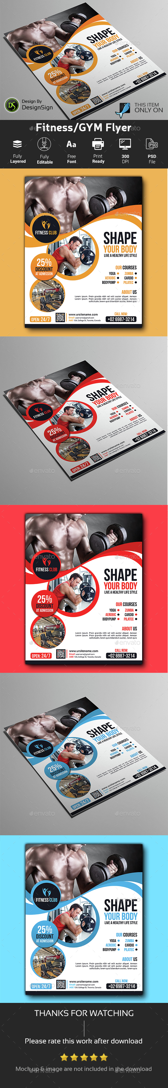 Fitness/ GYM Flyer