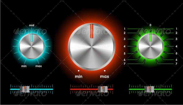 GraphicRiver Vector volume balance knobs 60479