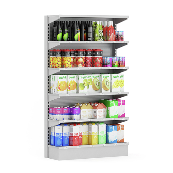 Market Shelf – Milk and Juices - 3DOcean Item for Sale