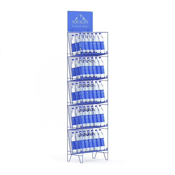 Rack with Water Bottles - 3DOcean Item for Sale