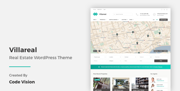 1 - Villareal - Real Estate WordPress Theme