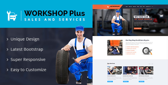 Workshop Plus - Services & Repaires HTML Template