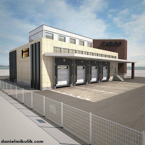 Cargo Building TIR Low Poly - 3DOcean Item for Sale