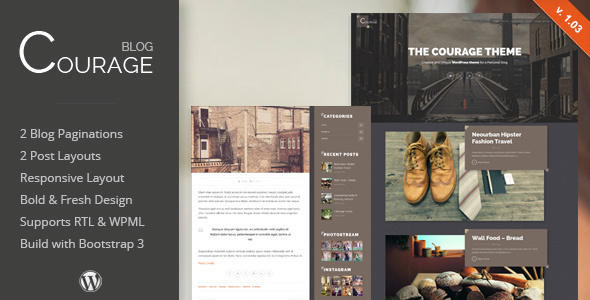 Download Courage - WordPress Creative Blog Theme nulled download