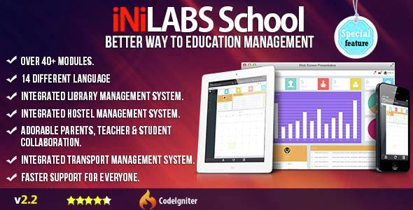 Download Inilabs School Management System Express nulled download