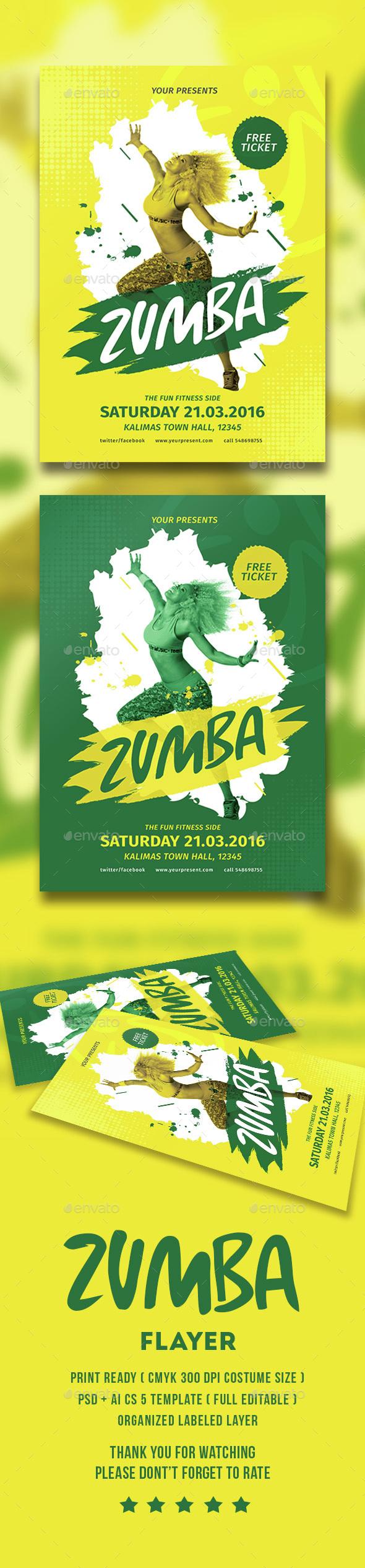 Zumba poster design - Zumba Poster Design 11