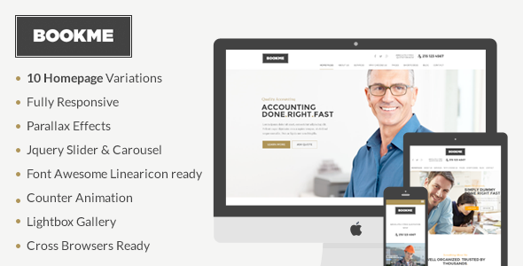 BookMe - Responsive Booking HTML Template