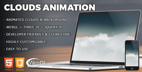 Download Clouds - jQuery 3D Animation nulled download