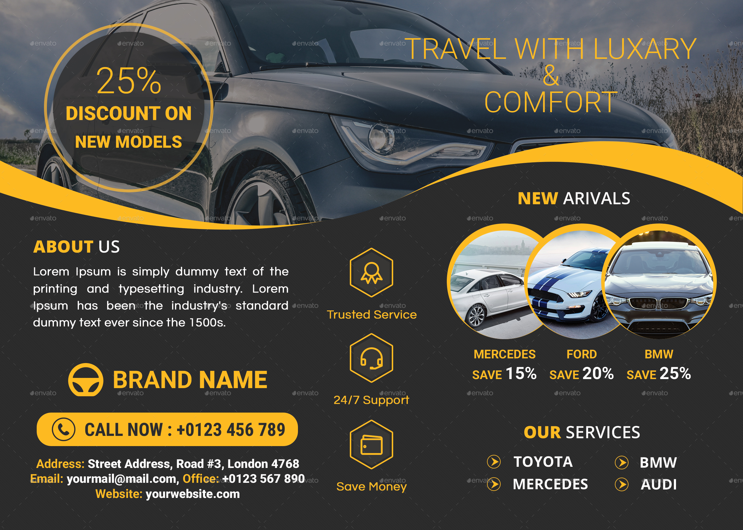 Car Service Flyer Template by ris10 – Car Flyer Template