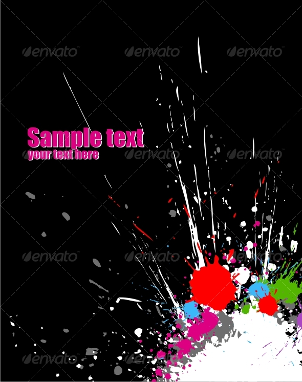 GraphicRiver Color paint splashes background 60518