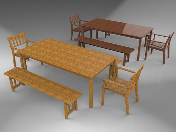 3DOcean Benches and Chairs 15363958