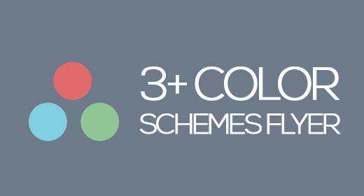 3+ Color Schemes Flyer