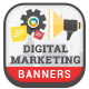 HTML5 Digital Marketing Banners - GWD - 7 Sizes