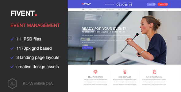 Fivent - Conference & Event PSD Template