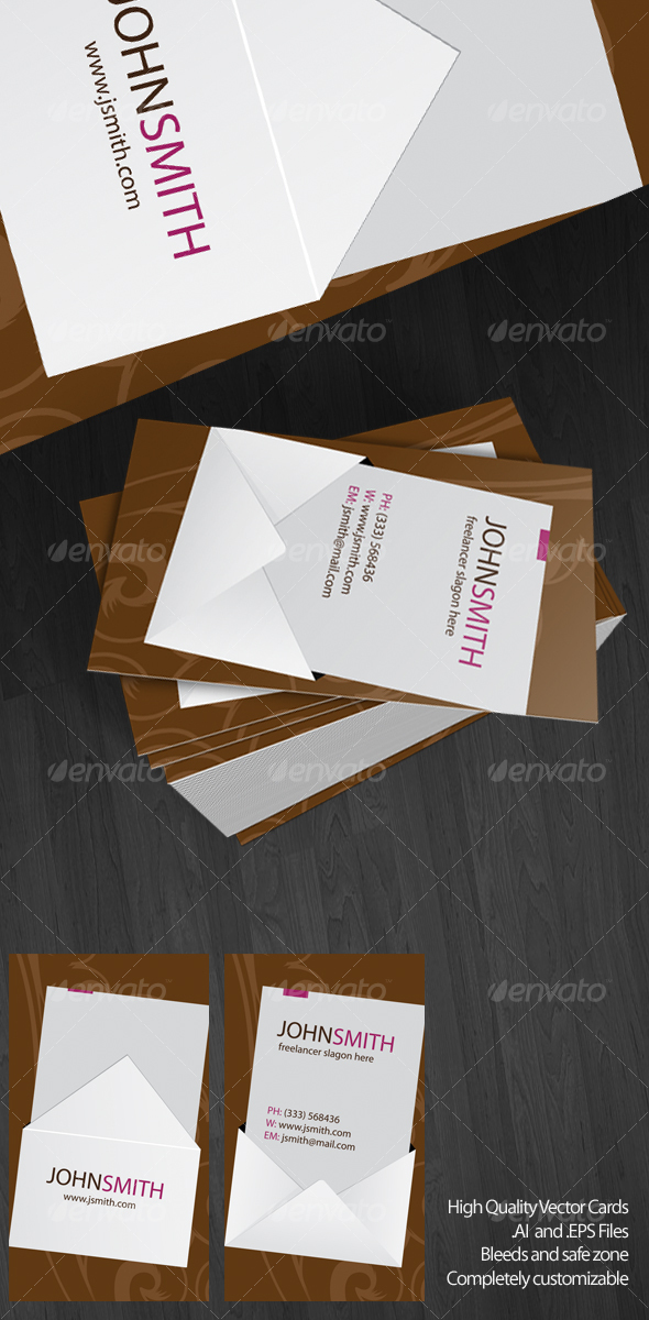 Envelope Vector Card - Creative Business Cards