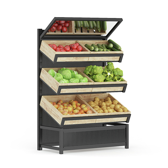Market Shelf – Vegetables - 3DOcean Item for Sale