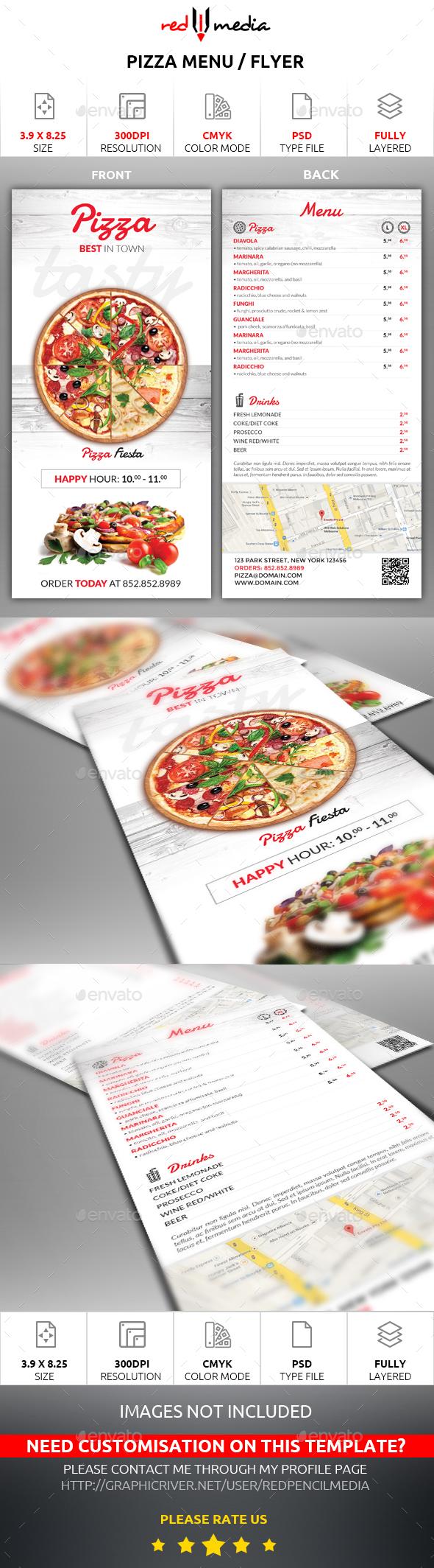 Pizza Menu / Flyer