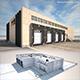 Cargo Building TIR Low Poly2