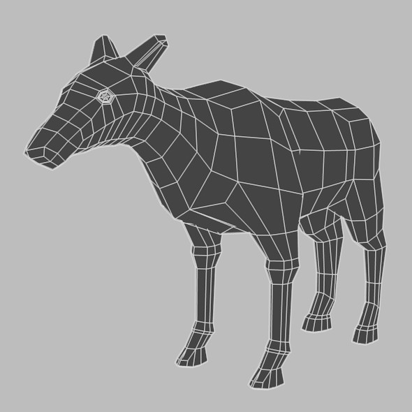 Low Poly Base Mesh Female Deer - 3DOcean Item for Sale