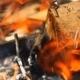 Burning Wooden Beams,