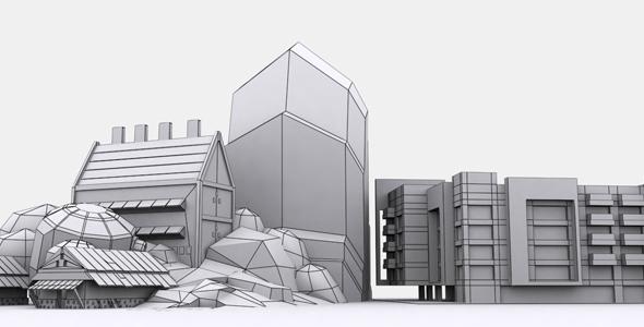 Building Set Model 1 - 3DOcean Item for Sale