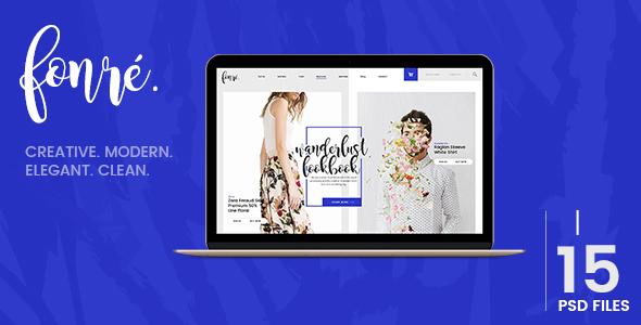 Fonre - Creative & Modern Online Shop PSD Template