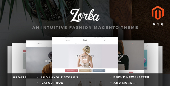 2 - ZORKA – Wonderful Fashion eCommerce Magento Themes