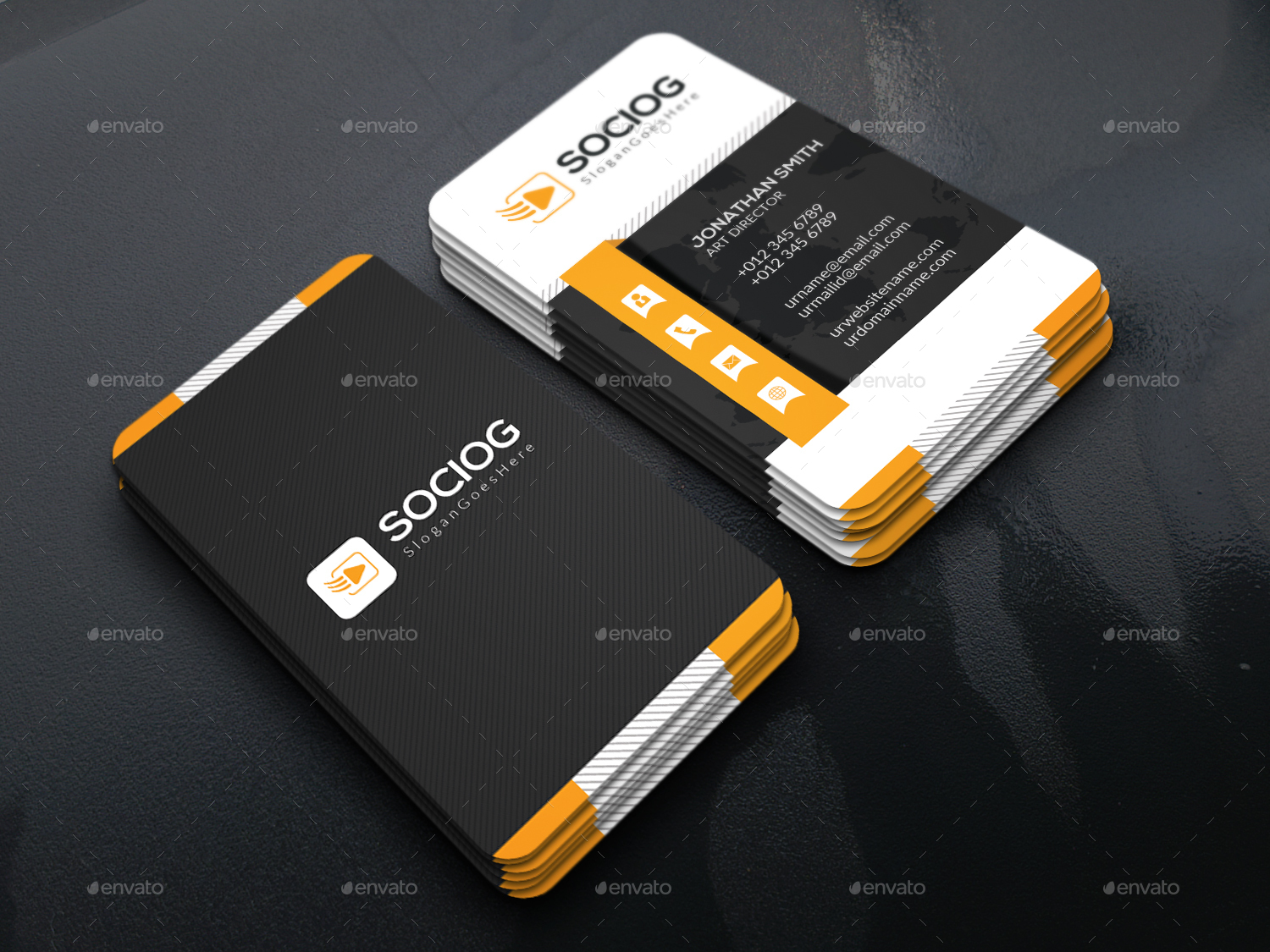 Corporate Business Card Design by crown point