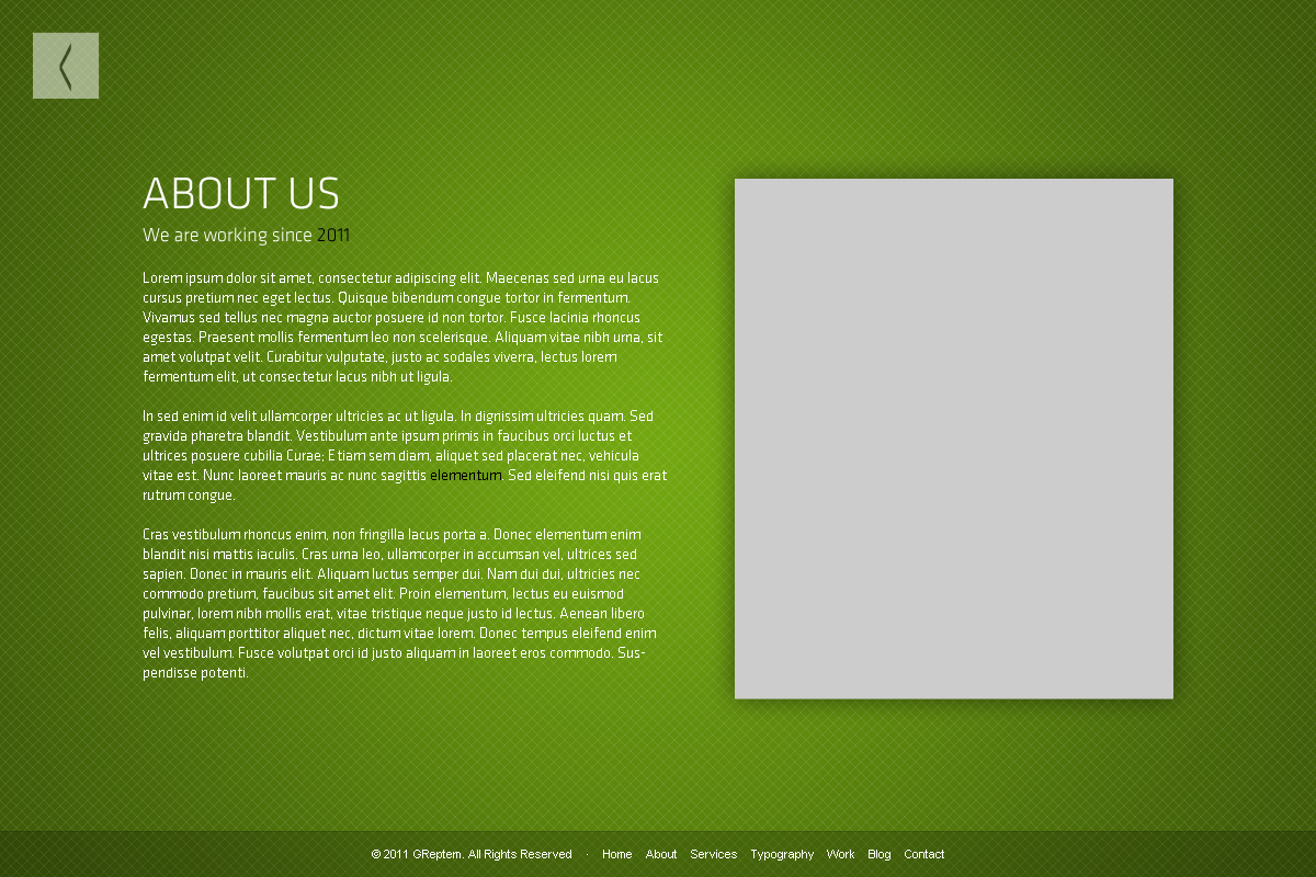 GReptem - HTML 5 CSS3 Clean Simple One page