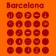 25 Barcelona Icons