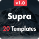 Supra - Pack of 20 Templates + Online Template Builder